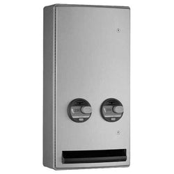 Bobrick B47069 ConturaSeries Sanitary Napkin & Tampon Dispenser Surface Mounted - Satin
