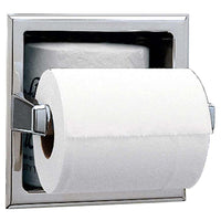 Bobrick B6637 Toilet Paper Dispenser w/ Storage for Extra Roll Recessed - Satin