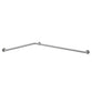 "Bobrick B68137.99 Grab Bar Two-Wall Bar L-Shape 54"" - Satin"