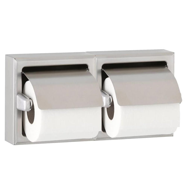 Bobrick B699 Toilet Paper Dispenser w/ Hood Dual Roll Recessed