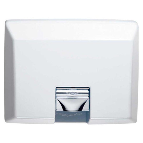 Bobrick B750 115V AirCraft Automatic Hand Dryer Steel Recessed - White