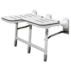 Bobrick B918116 Bariatric Folding Shower Seat with Legs