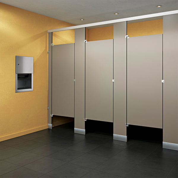 Global Partitions Black Core Phenolic Toilet Partition - Prestige Distribution