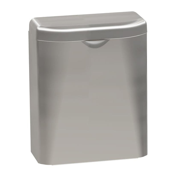 Bradley 4A10-1100 Diplomat Series Sanitary Napkin Disposal 1.5 Gal. Surface Mounted - Satin