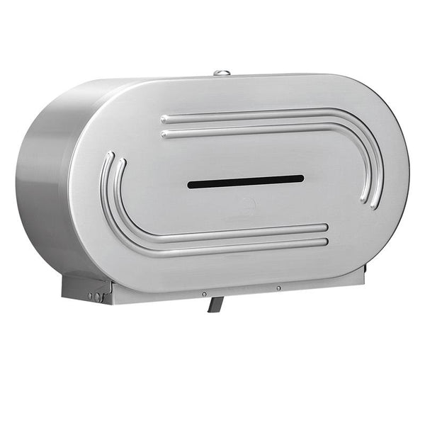 Bradley 5425-0000 Bradex Toilet Paper Dispenser Dual Roll Surface Mounted - Satin - Prestige Distribution