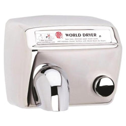 World Dryer DA5-97AU Model A Series Push Button Hand Dryer Stainless Steel Surface Mounted