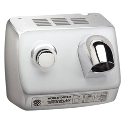 World Dryer DB-97CU AirStyle Model B Series Push Button Hand Dryer Stainless Steel Surface Mounted