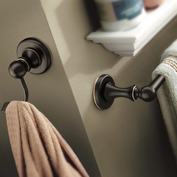 Moen DN1803BRB Whitley Robe Hook Single - Mediterranean Bronze - Prestige Distribution