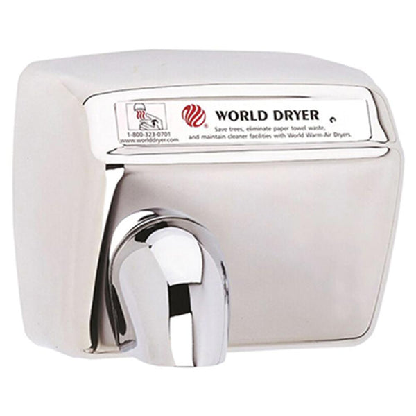 World Dryer DXA548-972CE Model A Series Automatic Hand Dryer Stainless Steel Surface Mounted - Polished