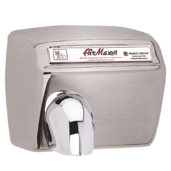 World Dryer DXM54-973A AirMax Automatic Hand Dryer Stainless Steel Surface Mounted - Brushed