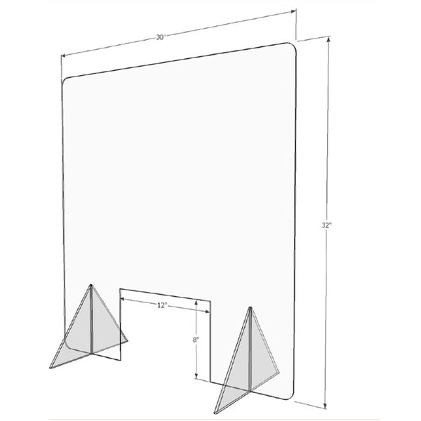 Gemini FSCTS Counter-Top Shield Free Standing Acrylic