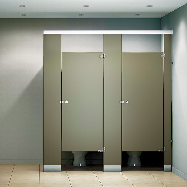 Global Partitions Black Core Phenolic Toilet Partition