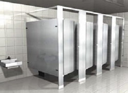 Hadrian Stainless Steel Toilet Partition