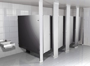 Hadrian - Powder Coated Metal Toilet Partition