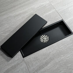 Golden Brushed Floor Drain 30cm SUS304 Stainless Steel Deodorization Black Shower Drains Bathroom