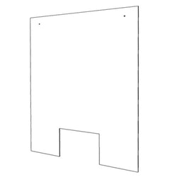 "Gemini HAG3240-WW-118 Hanging Sneeze Guard 1/8"" Acrylic 32"" x 40"" w/ Cutout Window"