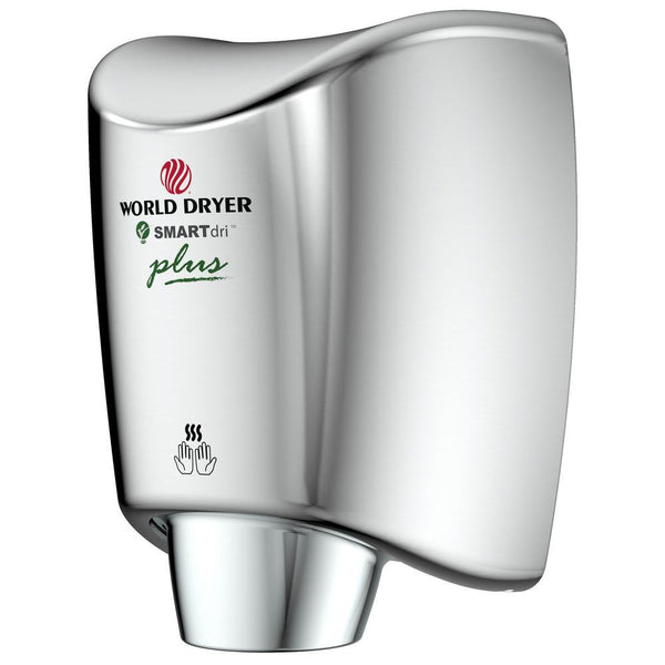 World Dryer K-97P2 SMARTdri Plus Automatic Hand Dryer Stainless Steel Surface Mounted