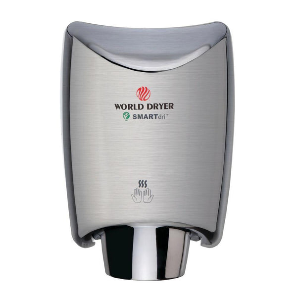World Dryer K-97A2 SMARTdri Automatic Hand Dryer Stainless Steel Surface Mounted - Prestige Distribution