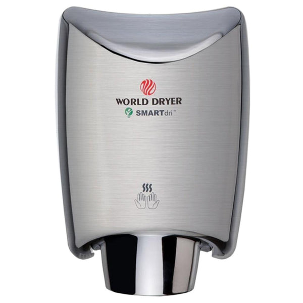 World Dryer K4-973A2 SMARTdri Automatic Hand Dryer Stainless Steel Surface Mounted - Brushed