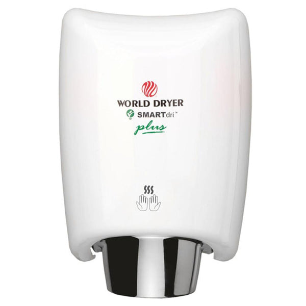 World Dryer K4-974P2 SMARTdri Plus Automatic Hand Dryer Aluminum Surface Mounted - White - Prestige Distribution