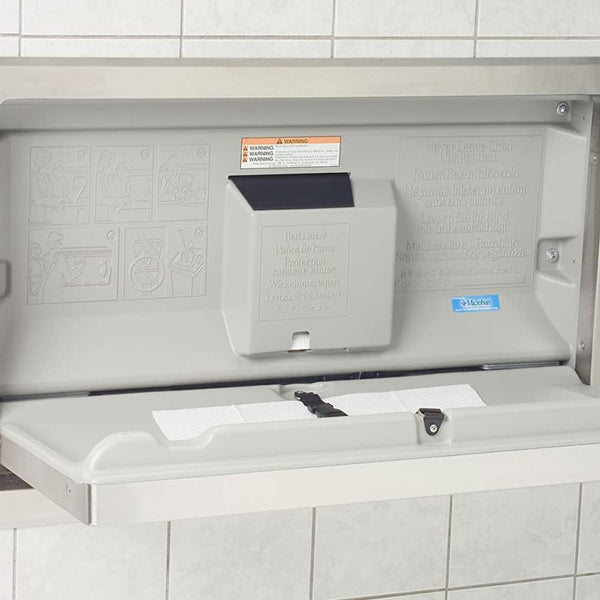 Koala KB110-SSRE Baby Changing Station Horizontal Stainless Steel Recessed - Grey