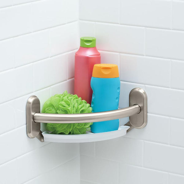 Moen LR2354D Grab Bar with Corner Shelf 9""