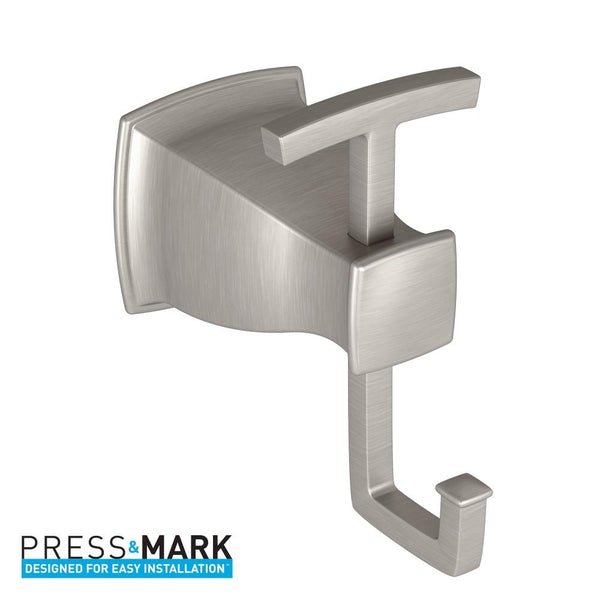 Moen MY3503BN Hensley Robe Hook Double - Brushed Nickel