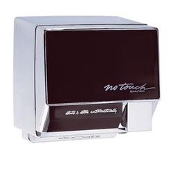 World Dryer NT246-004 NoTouch Automatic Hand Dryer Aluminum Body w/ Ebony Front Panel Surface Mounted - Chrome