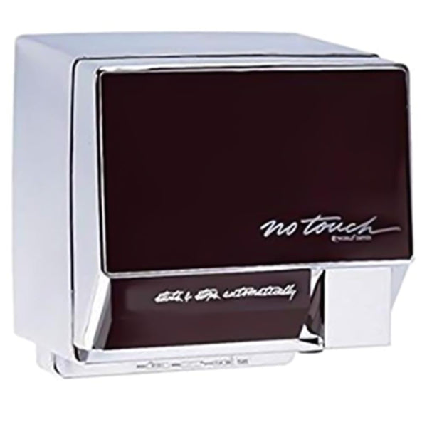 World Dryer NT126-004 NoTouch Automatic Hand Dryer Aluminum Body w/ Ebony Front Panel Surface Mounted - Chrome
