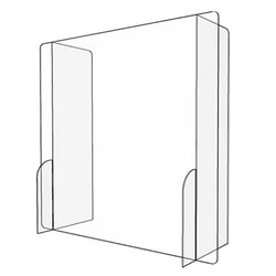 "Gemini PSG3232-NW-25 Paneled Sneeze Guard 1/4"" Acrylic 32"" x 32"""