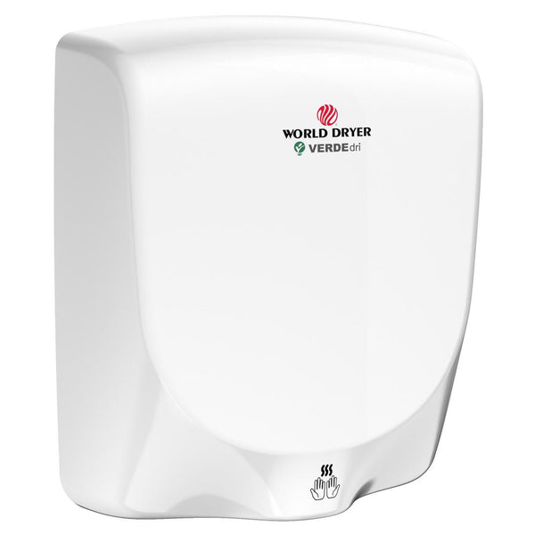 World Dryer VERDEdri Automatic Hand Dryer Aluminum Surface Mounted