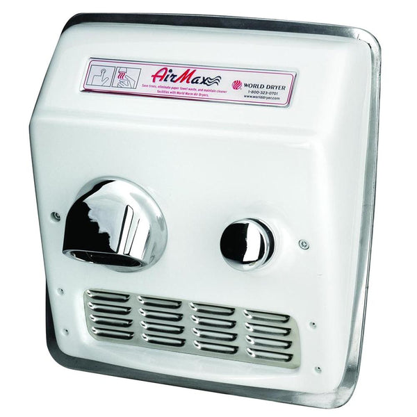 World Dryer AirMax RM Recessed Hand Dryer - Push Button