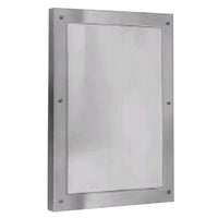 Bradley SA03-000002 Mirror Security Framed Front Mounted - Satin