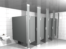 Hadrian Solid Plastic Toilet Partition