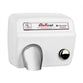 World Dryer DM5-974A AirMax Push Button Hand Dryer Stamped Steel Surface Mounted - White