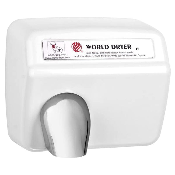 World Dryer XA5-974AU Model A Series Automatic Hand Dryer Cast Iron Surface Mounted - White