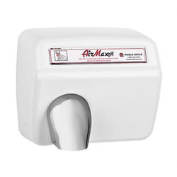 World Dryer XM5-974A AirMax Automatic Hand Dryer Cast Iron Surface Mounted - White