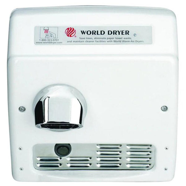 World Dryer Model XRA Recessed Automatic Hand Dryer
