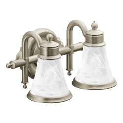 Moen YB9862 Waterhill Bath Light Two Globe