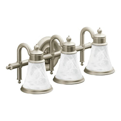 Moen YB9863 Waterhill Bath Light Three Globe
