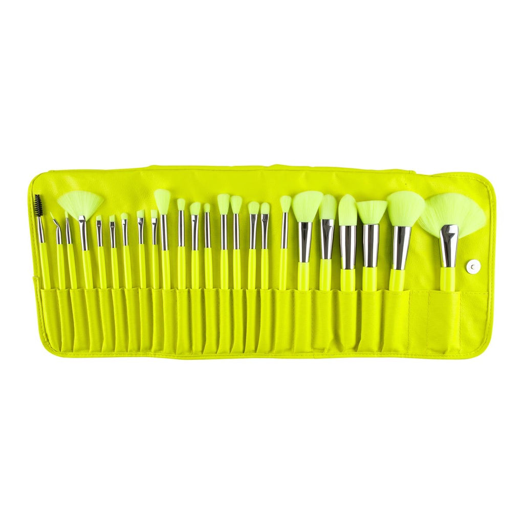 THE NEON YELLOW 24 PC BRUSH SET