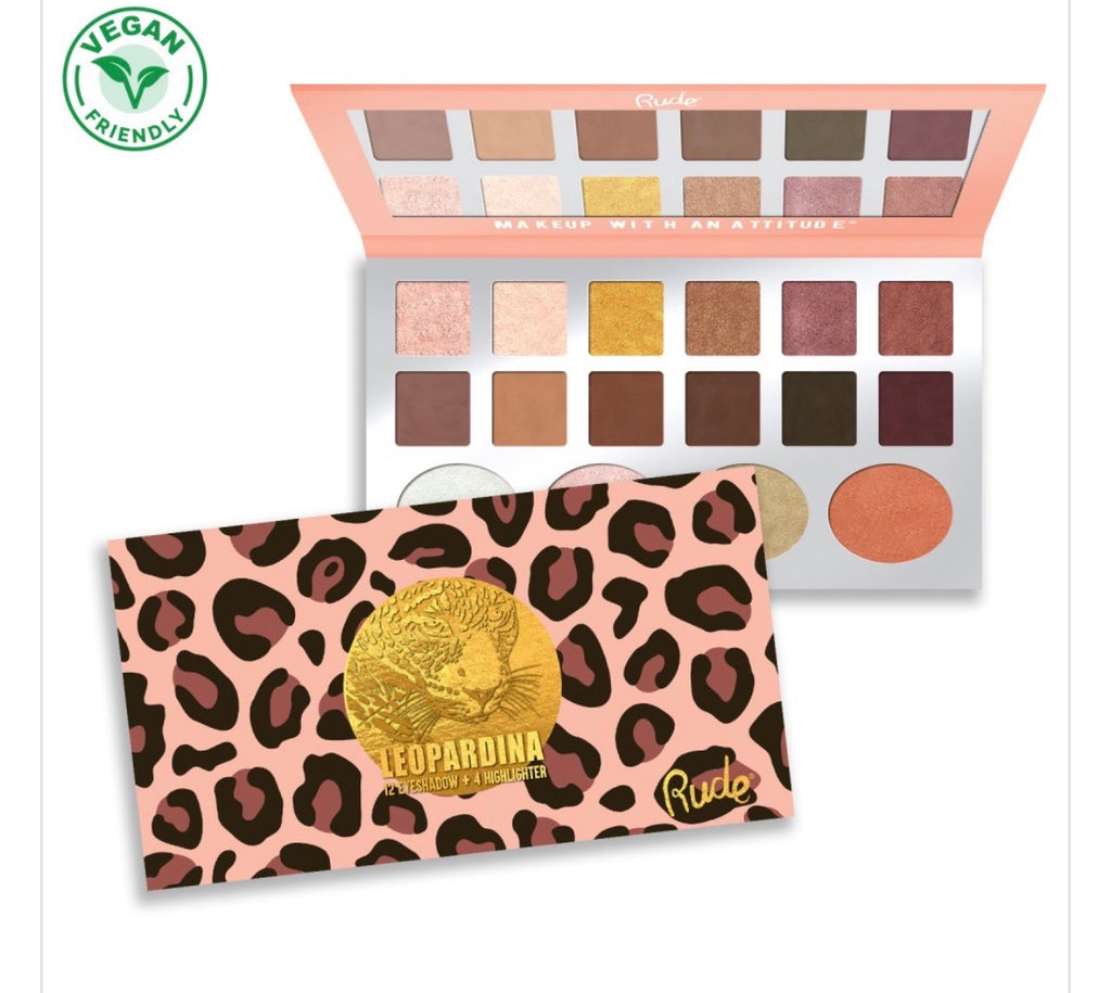 Leopardina 12 Eyeshadow + 4 Highlighter