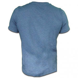 CoralFish12g Printed Heather Blue T-Shirt