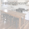 Ghify Industrial Recycled High Bench Dining Table & Kitchen Island in Dark Walnut customer review