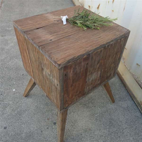 """Once Upon A Queenslander"" Eco Recycled White Bedside Table"