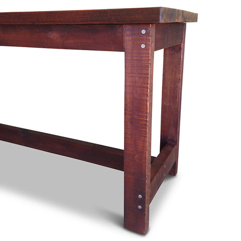 """Once Upon A Queenslander"" Industrial Recycled High Bench Table Dark Walnut Finish (SUPERSIZED)"