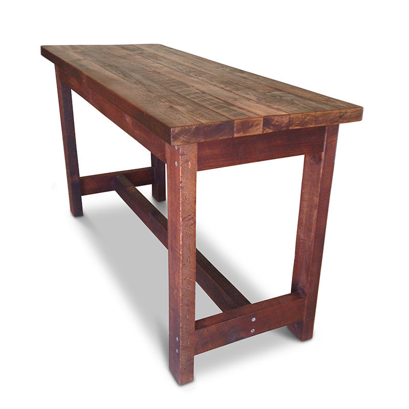 Industrial High Top Table: Industrial Recycled High Dining Table In Dark Walnut