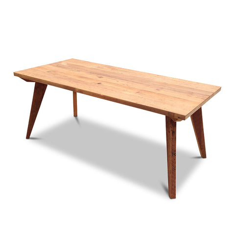 Modern Mid Century Retro Recycled Dining Table in Natural Medium (1.8m)