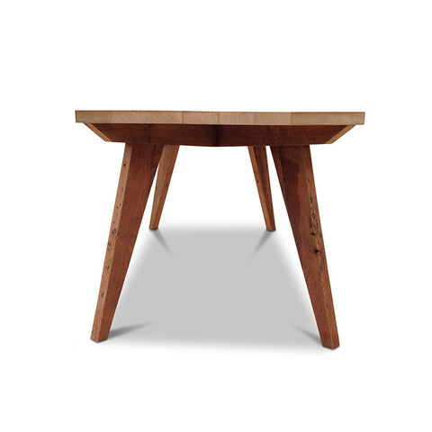 Modern Mid Century Retro Recycled Dining Table in Natural Small (1.5m)