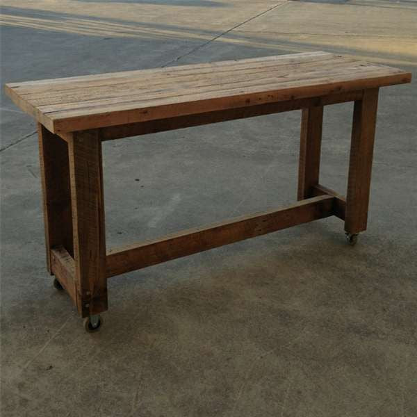High Kitchen Island Bench In Natural Custom Made Table With Wheels